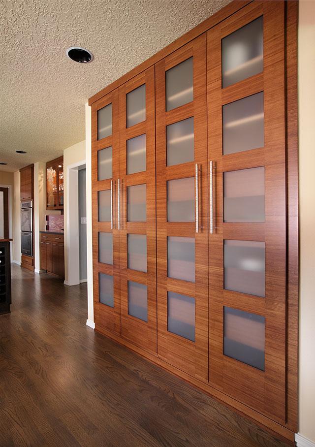 image of custom bamboo cabinet doors