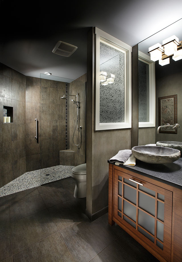 Image of new spa shower by Patti Marvitz